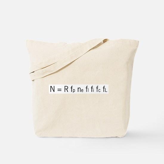 Drake Equation Tote Bag