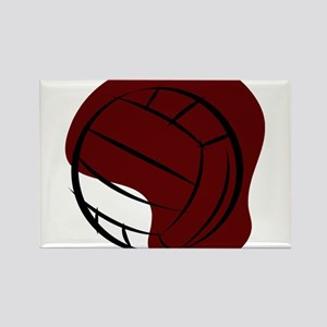 VOLLEYBALL {2} : crimson Rectangle Magnet