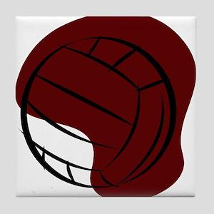VOLLEYBALL {2} : crimson Tile Coaster