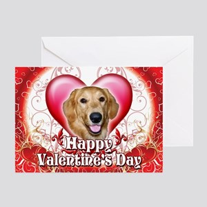 Happy Valentine's Day Golden Greeting Cards (Pk of