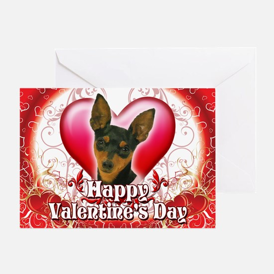 Happy Valentine's Day Min Pin Greeting Card