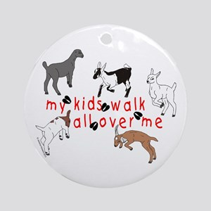 my kids walk... Ornament (Round)