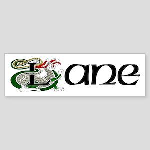 Lane Celtic Dragon White Bumper Sticker