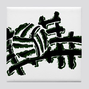 VOLLEYBALL {13} : green Tile Coaster