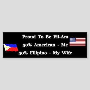 Fil-Am #1 Bumper Sticker