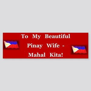 Mahal Kita Wife Bumper Sticker