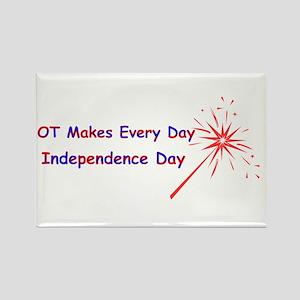 OT Independence Rectangle Magnet