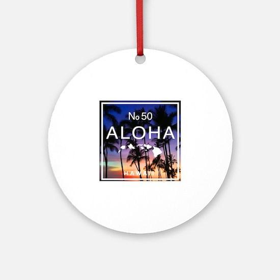 Cute Oahu Round Ornament
