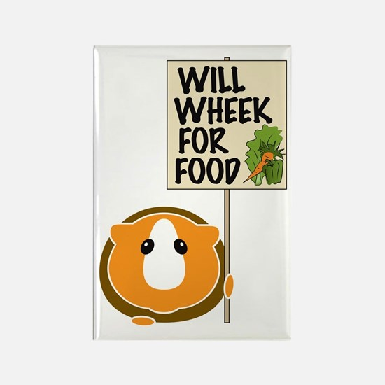 Will Wheek for Food Rectangle Magnet