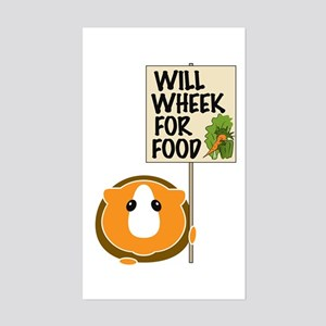 Will Wheek for Food Sticker (Rectangle)