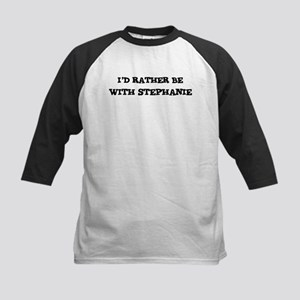 With Stephanie Kids Baseball Jersey