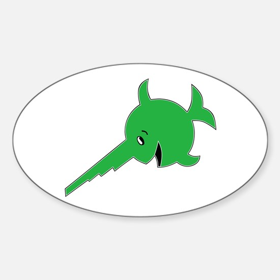 Cute Sawfish Sticker (Oval 10 pk)