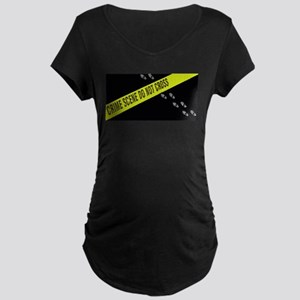 Crime Scene Maternity Dark T-Shirt