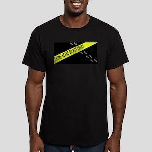 Crime Scene Men's Fitted T-Shirt (dark)