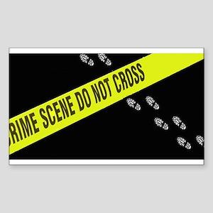 Crime Scene Rectangle Sticker