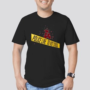 Police line with blood spatte Men's Fitted T-Shirt