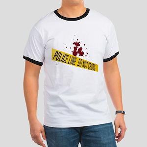 Police line with blood spatte Ringer T