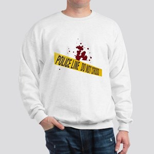 Police line with blood spatte Sweatshirt