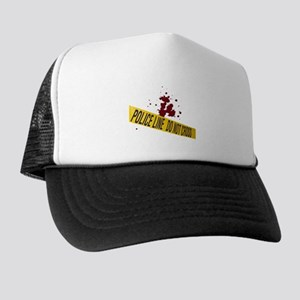 Police line with blood spatte Trucker Hat