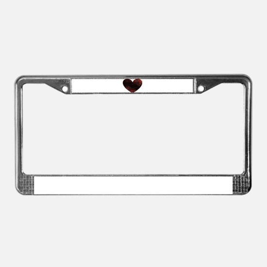 Rusty Heart License Plate Frame
