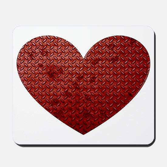 Diamond Plate Heart Mousepad