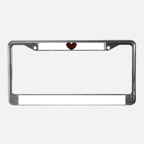 Chained Heart License Plate Frame