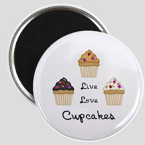 Live Love Cupcakes Magnet