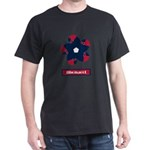 Fibonacci Red White Blue Dark T-Shirt