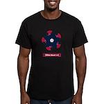 Fibonacci Red White Blue Men's Fitted T-Shirt (dar