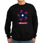 Fibonacci Red White Blue Sweatshirt (dark)
