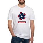 Fibonacci Red White Blue Fitted T-Shirt