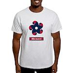 Fibonacci Red White Blue Light T-Shirt
