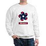 Fibonacci Red White Blue Sweatshirt