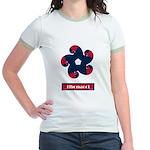 Fibonacci Red White Blue Jr. Ringer T-Shirt