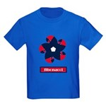 Fibonacci Red White Blue Kids Dark T-Shirt