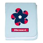 Fibonacci Red White Blue baby blanket