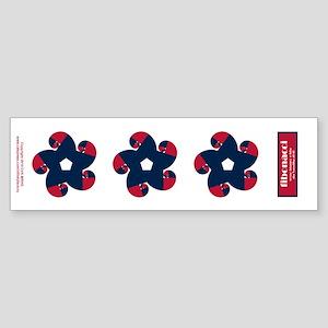 Fibonacci Red White Blue Sticker (Bumper)