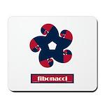 Fibonacci Red White Blue Mousepad