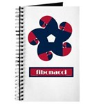 Fibonacci Red White Blue Journal