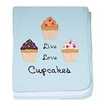 Live Love Cupcakes baby blanket