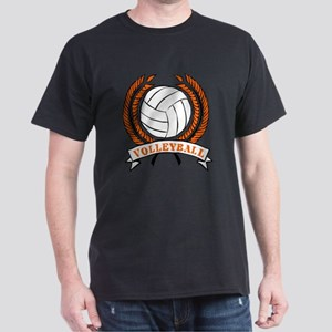 VOLLEYBALL {15} : orange Dark T-Shirt