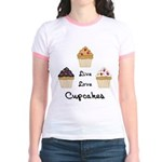 Live Love Cupcakes Jr. Ringer T-Shirt
