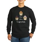 Live Love Cupcakes Long Sleeve Dark T-Shirt