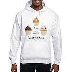 Live Love Cupcakes Hooded Sweatshirt