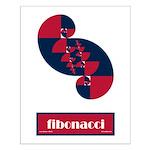 Fibonacci Red White Blue II Small Poster