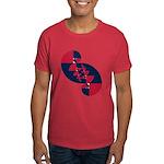 Fibonacci Red White Blue II Dark T-Shirt