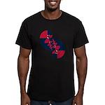 Fibonacci Red White Blue II Men's Fitted T-Shirt (