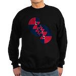 Fibonacci Red White Blue II Sweatshirt (dark)