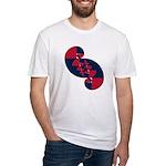 Fibonacci Red White Blue II Fitted T-Shirt