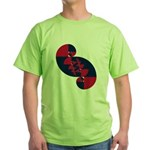 Fibonacci Red White Blue II Green T-Shirt